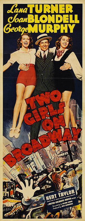 Two Girls on Broadway - Theatrical poster