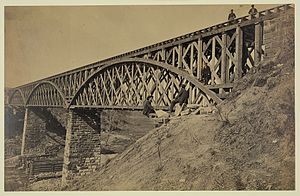Potomac Creek Bridge - The Potomac Creek Bridge as it stood on April 18, 1863.