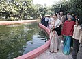 """Pratibha Devisingh Patil inaugurated the """"Nature Trail"""" at the President's Estate on December 13, 2008. This is an effort to bring the people closer to Rashtrapati Bhavan and to encourage environmental awareness (1).jpg"""