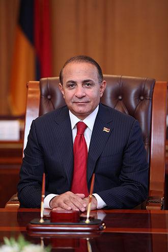 Hovik Abrahamyan - Image: President of the National Assembly