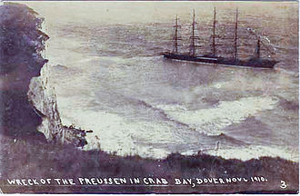 Preußen (ship) - Stranded in Crab Bay