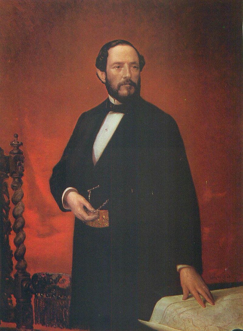 Retrato del general Juan Prim y Prats (1814-1870), conde de Reus, marqués de los Castillejos y vizconde del Bruch.