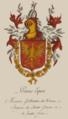 Primus Eques. Blason de Messire Guillame de Vienne Seigneur de Saint George et de Sainte Croix.png