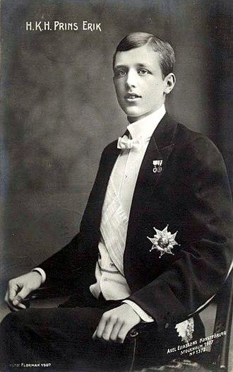 Prince Erik, Duke of Västmanland - Image: Prince Erik, Duke of Västmanland