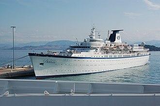 Classic International Cruises - Image: Princess Danae in Corfu harbour, 2008