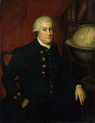 George Vancouver - A portrait from the late 18th century by an unknown artist believed to depict George Vancouver