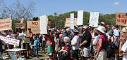 Protest against Toondah PDA plan 23 February 2014