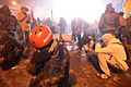 Protesters trying to escape tear gass, Dynamivska str. Euromaidan Protests. Events of Jan 19, 2014.jpg