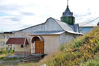 Provideniya - Russian Orthodox church building in Provideniya