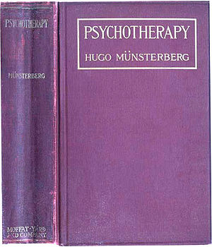 Hugo Münsterberg - Cover of Psychotherapy by Münsterberg
