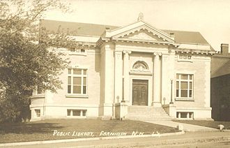 Franklin, New Hampshire - Public Library c. 1915, a Carnegie library