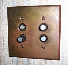 Mercury Light Switch: A vintage push button light switch,Lighting