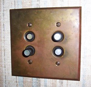 Light switch - Vintage push-button light switches