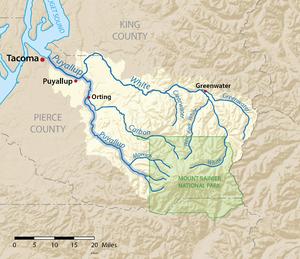 Puyallup River - Image: Puyallupmap
