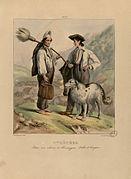Pyrénées - Pâtres aux cabanes de Tramezaigues, Vallée de Campan - Fonds Ancely - B315556101 A PINGRET 019.jpg