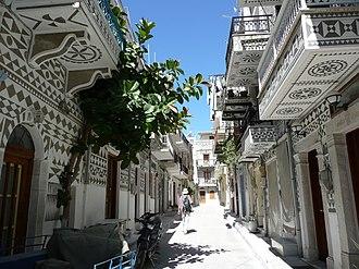 Chios - View of Pyrgi village