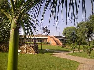 Qila Rai Pithora - Statue of Prithviraj Chauhan, Qila Rai Pithora complex.