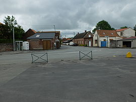 Quéant seen from next to the church
