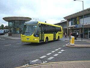 Gateshead Interchange - Image: Quaylink bus 61010 Designline Olymbus NK05 PXH in Gateshead Interchange 5 May 2009