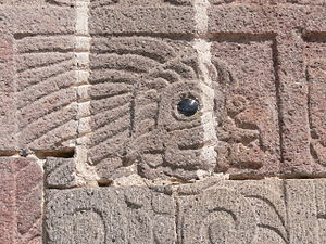 Mirrors in Mesoamerican culture - Relief sculpture at Teotihuacan; the eye is marked with obsidian