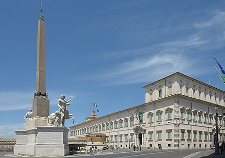 The Palazzo del Quirinale, now seat of the President of the Italian Republic