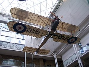 Aircraft dope - 2699 a World War I Royal Aircraft Factory B.E.2 finished in a clear (non-coloured) dope