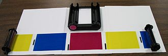 Dye-sublimation printer - A disassembled dye sublimation cartridge.