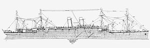 RMS Baltic (1903) - RMS Baltic line drawing