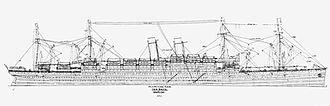 RMS Baltic (1903) - RMS Baltic line drawing