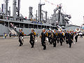 ROCN Band Moving in Keelung Naval Pier 20140327a.jpg