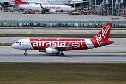 Airbus A320-200 der AirAsia Zest mit neuen Design