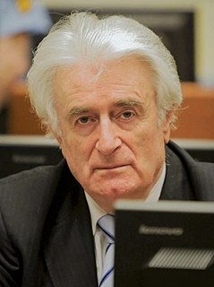 Radovan Karadžić former Bosnian Serb politician; convicted war criminal