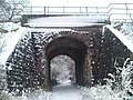 Railway viaduct in the snow - geograph.org.uk - 1339555.jpg