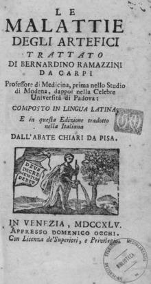 De morbis artificum diatriba, 1745