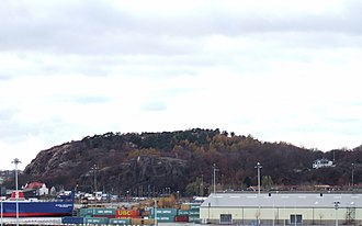 Hisingen - Ramberget as seen from the Göta älv Bridge.