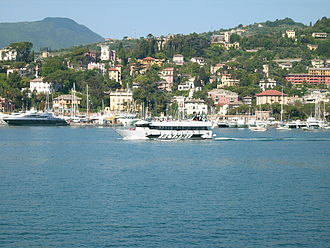 Rapallo - The sea front and harbour of Rapallo.