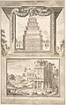 Reconstruction of the Monument to Septimius Severus (above), View of the Ruins (below) MET DP800342.jpg