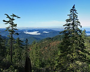 South Fork Eel River - South Fork valley seen from Red Mountain above Cedar Creek