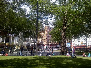 Leicester Square square in London, United Kingdom