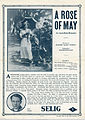 Release flier for A ROSE OF MAY, 1913.jpg