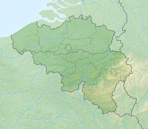 Reliefkarte Belgien
