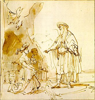Ruth (biblical figure) - Boaz and Ruth by Rembrandt