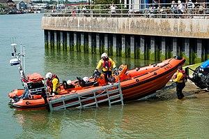 Littlehampton Lifeboat Station - Image: Rennee Sherman launch