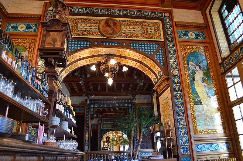 Fichier:Restaurant La Cigale - déco intérieure Art Nouveau (détail 5).jpg