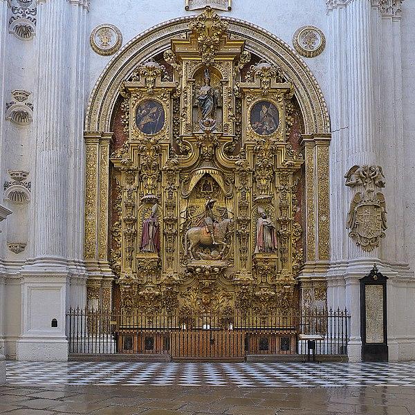 Archivo:Retablo, El Triunfo de Santiago. Catedral de Granada.jpg