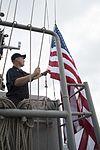 Retiring U.S. Navy Captain's flag is flown aboard USS Bonhomme Richard 170112-N-XT039-056.jpg