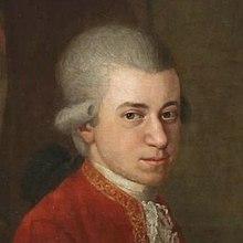 W. A. Mozart, Detail aus einem Gemälde von Johann Nepomuk della Croce (ca. 1781) (Quelle: Wikimedia)