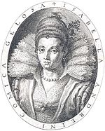 Rime d'Isabella Andreini 1603, frontispiece, engraved portrait - Gallica 2014 (adjusted).jpg