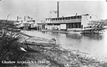 River Steamers docked at Athabasca Landing.jpg