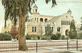 Riverside Polytechnic High School - Girls High School in Riverside, California, ca. 1915